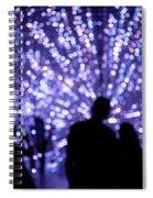 Abstract Light Spiral Notebook