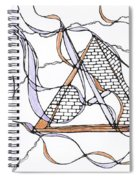 Abstract Pencil Pattern Spiral Notebook