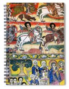 Ancient Orthodox Church Interior Painted Walls In Gondar Ethiopi Spiral Notebook