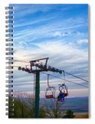 Beautiful Winter Landscape At Timberline West Virginia Spiral Notebook