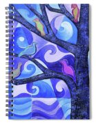 7 Birds On A Tree Spiral Notebook