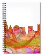 Charlotte Nc Skyline Skyline Spiral Notebook