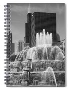 Chicago Skyline And Buckingham Fountain Spiral Notebook