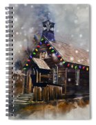Church At Christmas Spiral Notebook