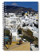 Cliff Perched Houses In The Town Of Oia On The Greek Island Of Santorini Greece Spiral Notebook