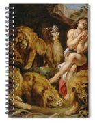 Daniel In The Lions' Den Spiral Notebook