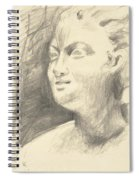 Drawing Of Ancient Sculpture Spiral Notebook
