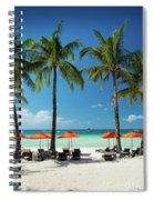 Main Beach Of Tropical Paradise Boracay Island Philippines Spiral Notebook