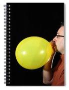Man Inflating Balloon Spiral Notebook
