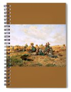 Peasants Lunching In A Field Daniel Ridgway Knight Spiral Notebook