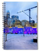 Rare Winter Weather In Charlotte North Carolina Spiral Notebook