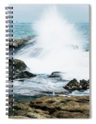 Rocks And Waves At Point Cartwright  Spiral Notebook