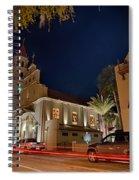 St Augustine City Street Scenes Atnight Spiral Notebook