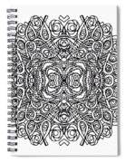 Concentric Butterfly Spiral Notebook