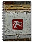 7 Up Vintage Cooler Spiral Notebook