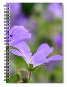 Wood Cranesbill Spiral Notebook