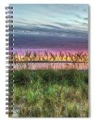 Yorktown Beach At Sunrise Spiral Notebook