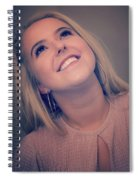Young Woman Getting Ready To Night Out Spiral Notebook