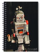 70s Mechanical Android Bot  Spiral Notebook