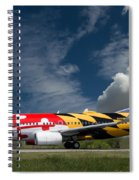 737 Maryland On Take-off Roll Spiral Notebook
