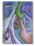 #758 Abstract Drawing Spiral Notebook