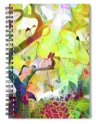 8 Abstract Japanese Maple Tree Spiral Notebook