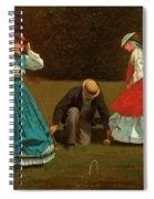 Croquet Scene Spiral Notebook