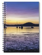 Dawn Waterscape Over The Bay With Boats Spiral Notebook