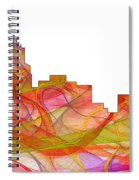 Durham North Carolina Skyline Spiral Notebook