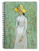 Girl In White Spiral Notebook
