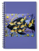 8 Gold Fish Spiral Notebook