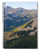 Autumn Tundra Turning To Gold  On Mount Yale Colorado Spiral Notebook