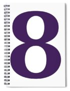 8 In Purple Typewriter Style Spiral Notebook