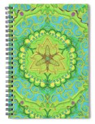 Indian Fabric Pattern Spiral Notebook