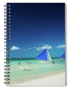 Main Beach Of Tropical Paradise Boracay Island Philippines Spiral Notebook