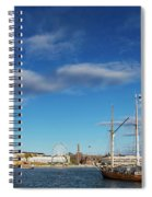 Old Sailing Boats In Helsinki City Harbor Port Finland Spiral Notebook