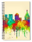 Philadelphia Pennsylvania Skyline Spiral Notebook