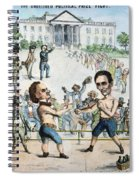 Presidential Campaign, 1860 Spiral Notebook