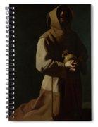 Saint Francis In Meditation Spiral Notebook