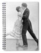 Silent Still: Man & Woman Spiral Notebook