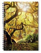 9 Abstract Japanese Maple Tree Spiral Notebook