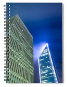 Charlotte North Carolina Skyline Spiral Notebook