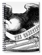 Eagle, 19th Century Spiral Notebook