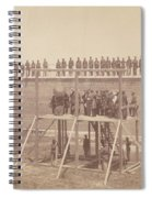 Execution Of The Conspirators Spiral Notebook