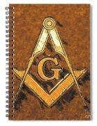 Freemason, Mason, Masonic Symbolism Spiral Notebook