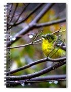 Img_0001 - Pine Warbler Spiral Notebook
