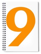 9 In Tangerine Typewriter Style Spiral Notebook