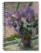 Lilacs In A Window Spiral Notebook