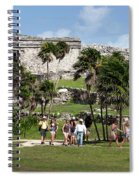 Mayan Temples At Tulum, Mexico Spiral Notebook
