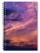 Nebraska Hp Supercell Sunset Spiral Notebook